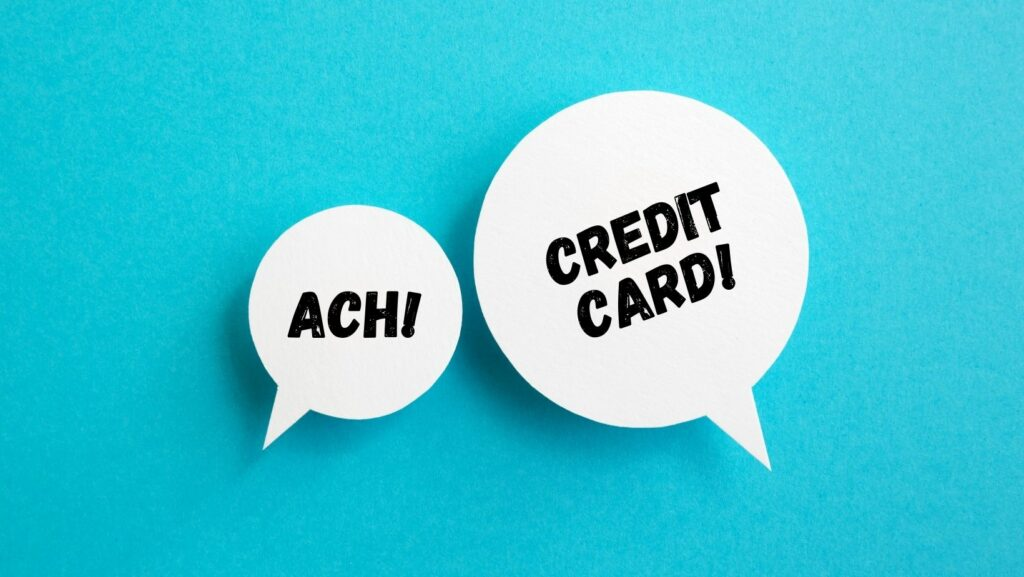 In the cost savings dual, who's the winner: ACH or Credit Card?